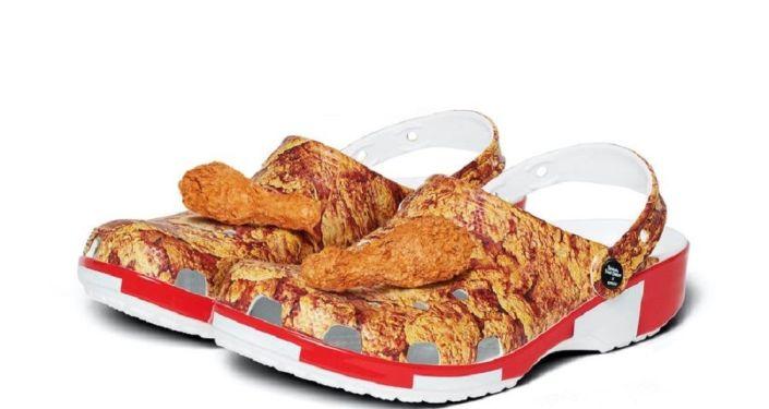 KFC ve Crocs tarafından üretilen 'tavuk kokulu' terlikler yarım saatte tükendi