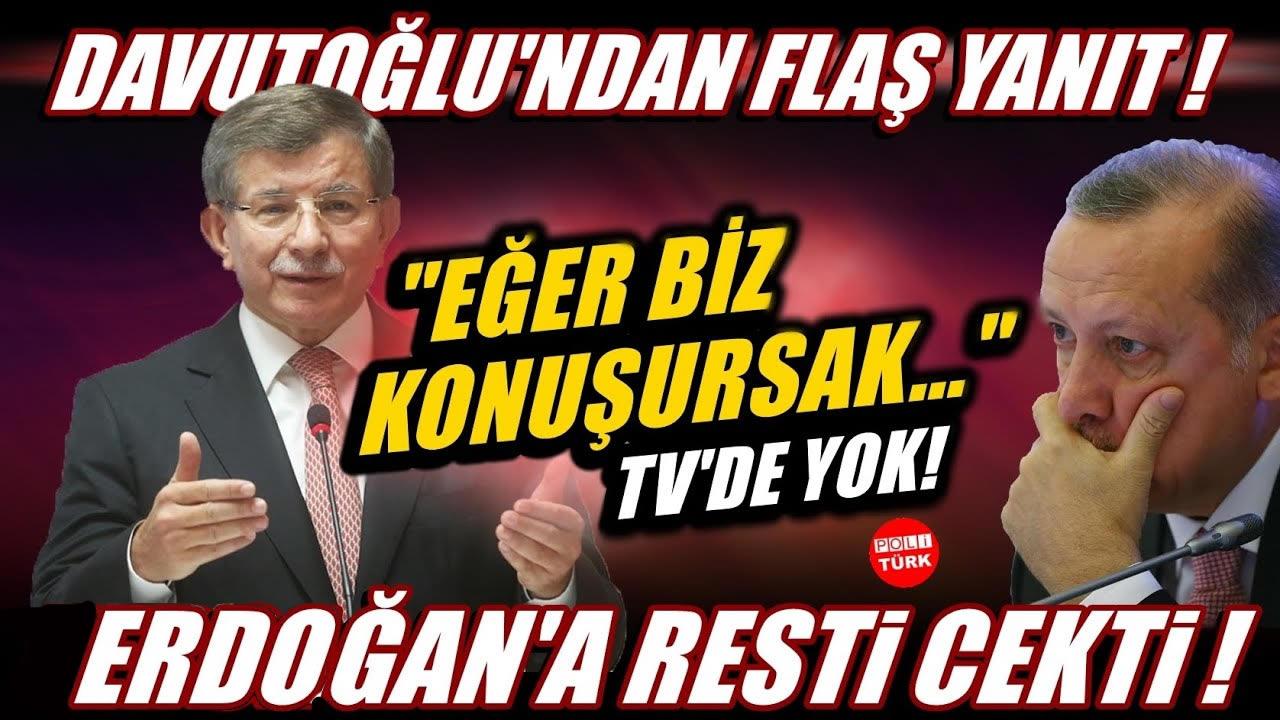 """Davutoğlu 'Saraylarda yaşayanlar' diyerek Erdoğan'a resti çekti: """"Eğer biz konuşursak…"""""""