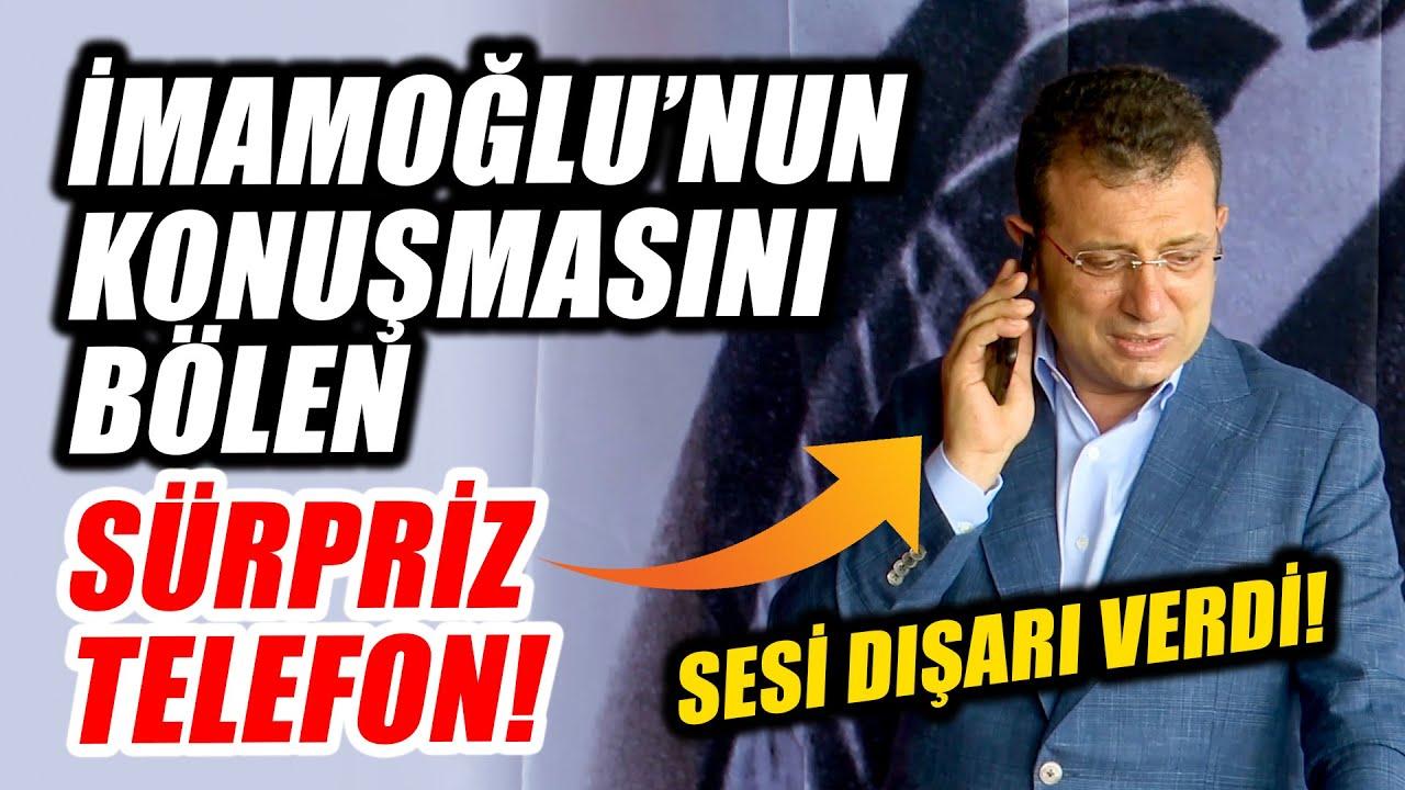 Ekrem İmamoğlu'nun konuşmasını bölen sürpriz telefon! Sesi dışarı verdi!
