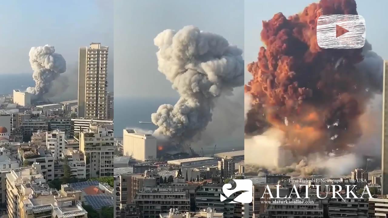 Beyrut'ta patlama: Onlarca kişi hayatını kaybetti, binlerce yaralı var – İşte Patlama Videosu !
