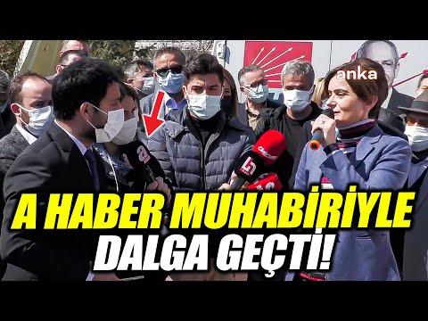Canan Kaftancıoğlu A Haber muhabiri ile dalga geçti!