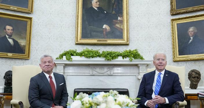 ABD Başkanı Biden, Ürdün Kralı 2. Abdullah ile Beyaz Saray'da bir araya geldi