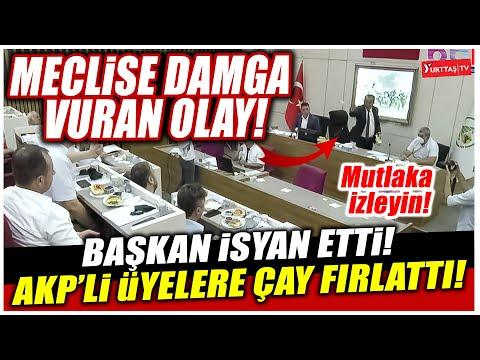 Meclise damga vuran olay! Başkan Özcan isyan etti.. AKP'li üyelere çay fırlattı!
