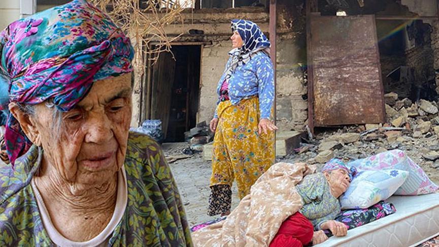 Türkiye'nin konuştuğu fotoğraftaki kadın kızı: Annem alzheimer hastası, evinin yandığından haberi yok