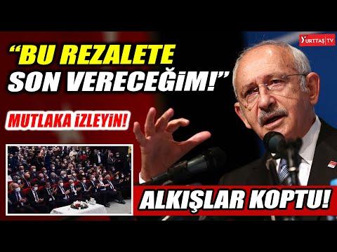"""Kılıçdaroğlu """"İktidar olduğumuzda bu rezalete son vereceğim"""" dedi! Alkışlar koptu!"""