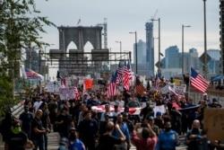 New York'ta Zorunlu Aşı Kararı Protesto Edildi