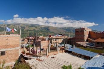 Huaraz - Vue depuis la terrasse de notre guest house