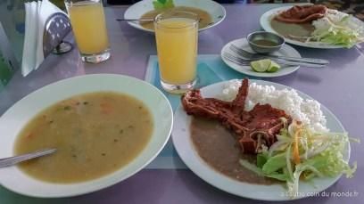 notre repas à Huaraz