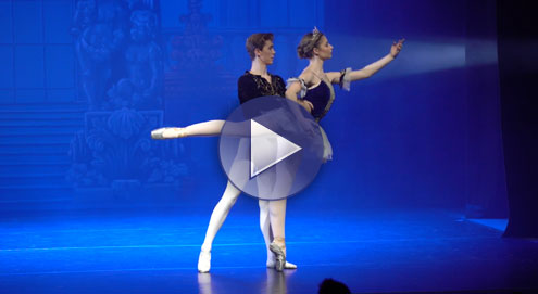 Cinderella and her Prince performing in Cinderella The Ballet, Greenock 2016