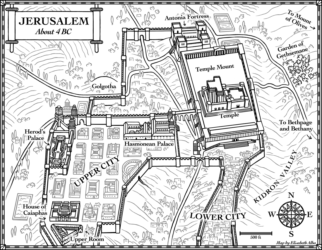 New Maps Jerusalem In 4 Bc And 21st Century