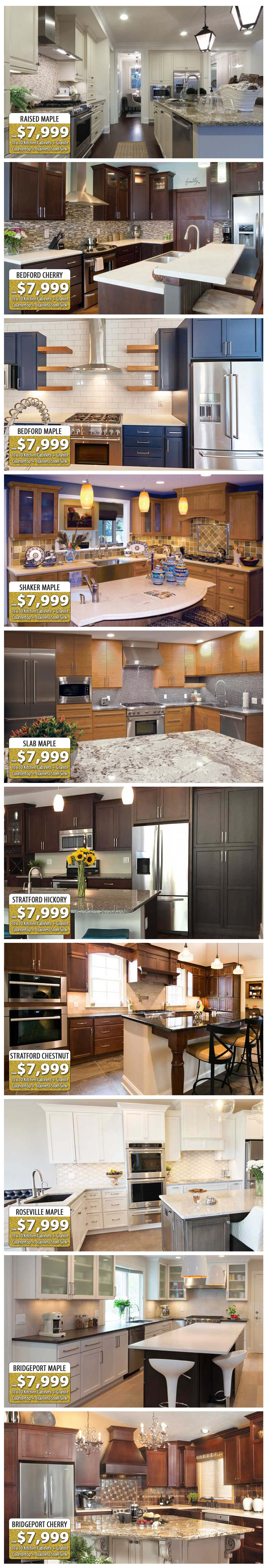 Gold Package 10' X 10' Kitchen Cabinet Sale