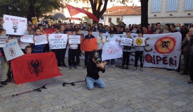 Protesta ne Shkoder