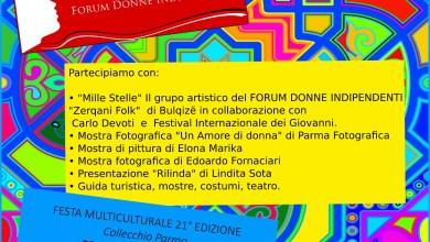 Il programma del Forum Donne Indipendenti alla Festa Multiculturale di Collecchio