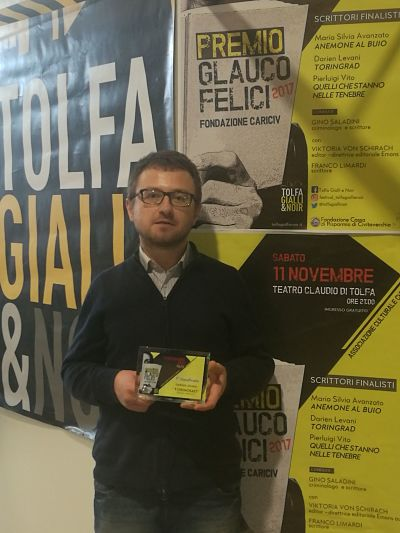 "Darien Levani vince il premio ""Gialli & Noir 2017"""