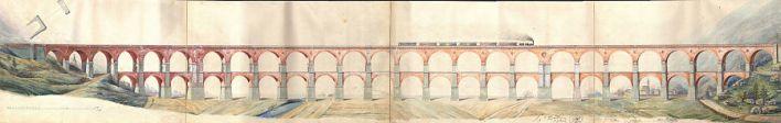 Borovnica Viaduct Piano Originale di Carlo Ghega
