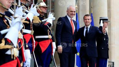 Presidente Francese Emmanuel Macron, Primo Ministro d'Albania Edi Rama