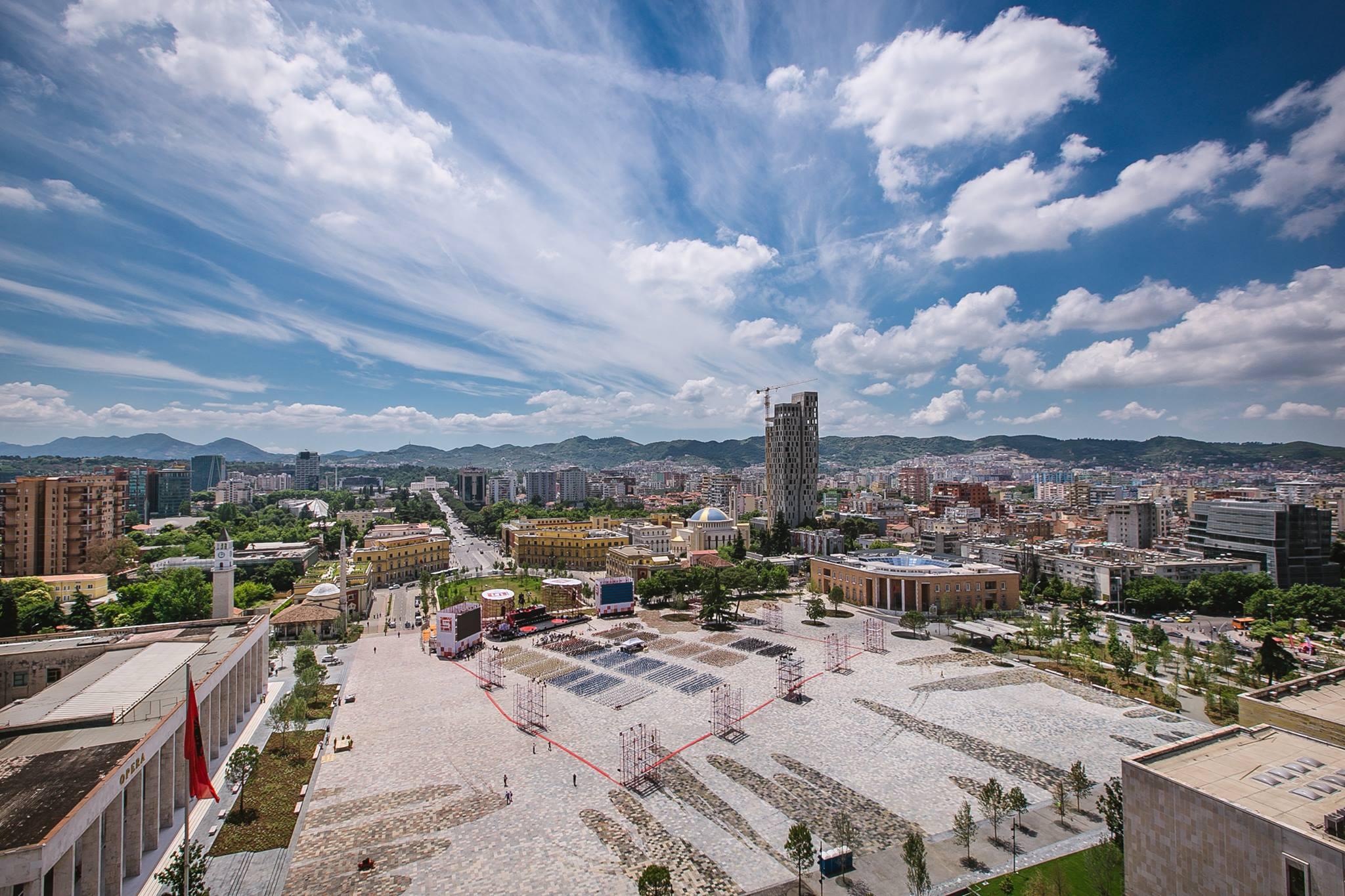 Piazza Scanderbeg, Tirana Albania European Prize for Urban Public Space 2018