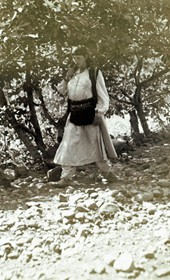 "Jäckh085: ""Muslim Albanian girl in Dukagjin"" (Photo: Ernst Jäckh, ca. 1910. Courtesy of Rare Books and Manuscript Library, Columbia University, New York, 130114-0049)."