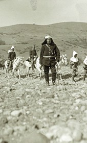 "Jäckh204: ""Through stony arid country in Albania"" (Photo: Ernst Jäckh, ca. 1910. Courtesy of Rare Books and Manuscript Library, Columbia University, New York, 130114-0019)."