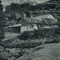 "EL1909.023: ""The church of Abat"" in Dukagjin (Photo: Erich Liebert, 1909)."