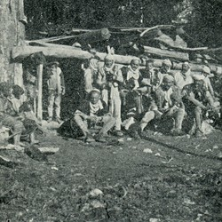 "EL1909.055: ""Hut of the Çoka family in Dragobia"" in the Valbona Valley (Photo: Erich Liebert, 1909)."