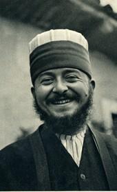 GM060: Baba Ali Myrteza (d. 1946) at the Bektashi teqe of Fushë Kruja (Photo: Giuseppe Massani, 1940).