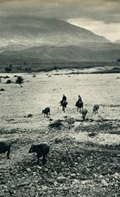 GM108: Dry bed of the Drino River near Gjirokastra (Photo: Giuseppe Massani, 1940).