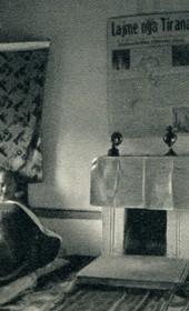 GM123: Giuseppe Massani in bed in Saranda (Photo: Giuseppe Massani, 1940).