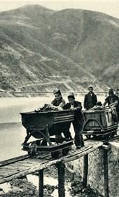 GM147: The copper mine at Rubik on the Fan River in Mirdita (Photo: Giuseppe Massani, 1940).