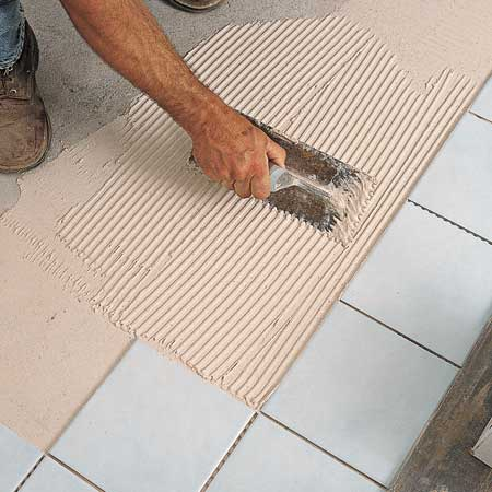 Cmo colocar un piso de baldosas cermicas en el bao