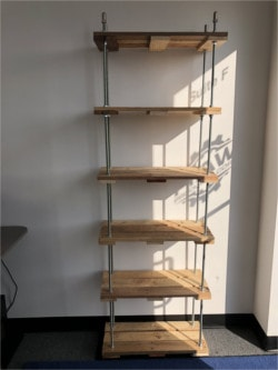 Building A Pallet Shelf Using Threaded Rod ...