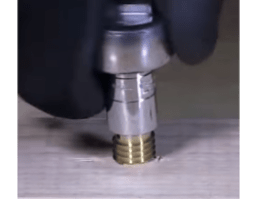 Using a Socket Wrench to Install the Threaded Insert