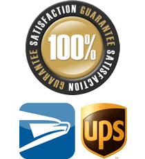Satisfaction Guaranteed, We ship USPS, UPS