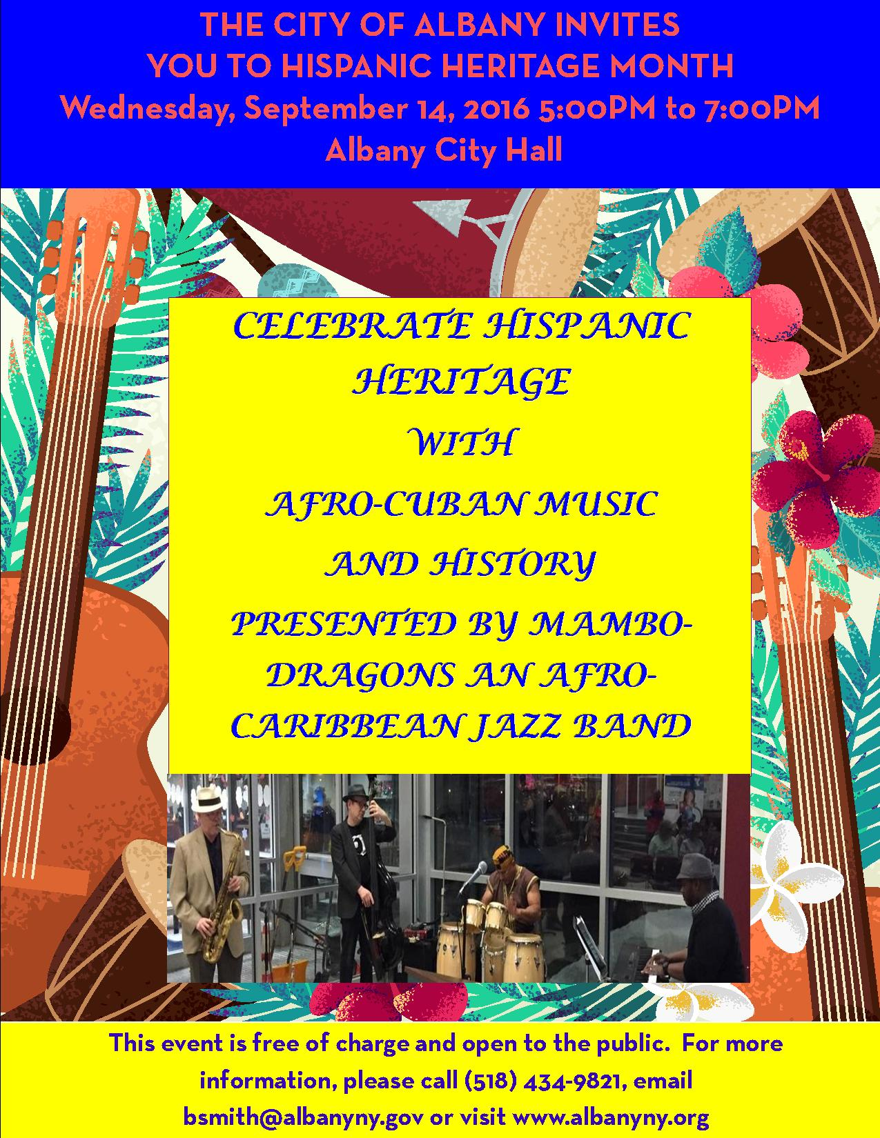 The City Of Albany Invites You To Hispanic Heritage Month