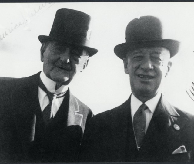 Dr Maurice Lewi With Alfred E Smith At The New York Worlds Fair Albany Institute Of History And Art