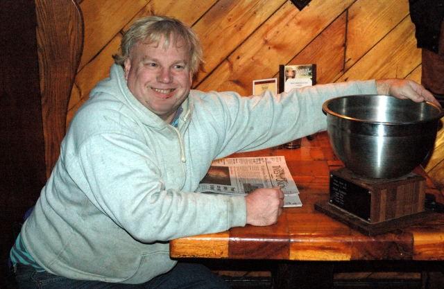 Trivia Rich Mahady with the Trivia Bowl