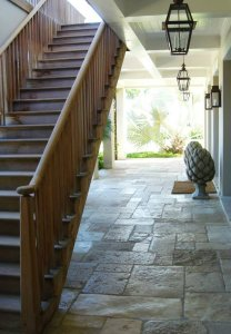 Sinker Cypress Stairs and Handrail