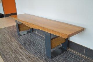Reclaimed oak bench Loyola University