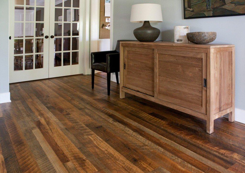 dirty top pine flooring living room