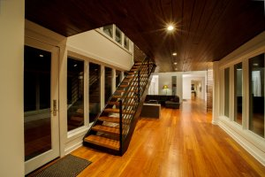 Heart Pine Stairs and Chateau Collection Heart Pine Flooring