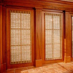 Antique Heart Cypress Custom Windows