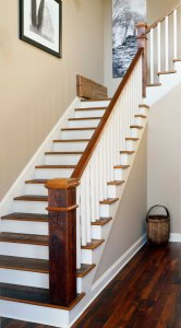 Orleans Collection Rustic Heart Pine Stairs and Handrail 2
