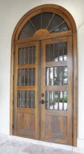 Custom Cypress Door
