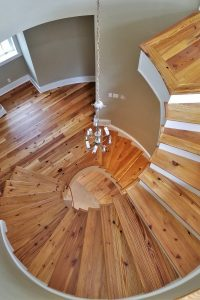 NJ Stairs Heart Pine