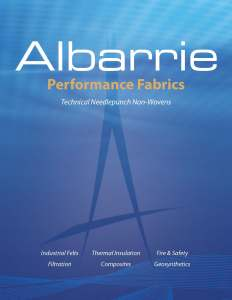 Industrial felts, fire & safety, thermal insulation, filtration, geosynthetics, composites