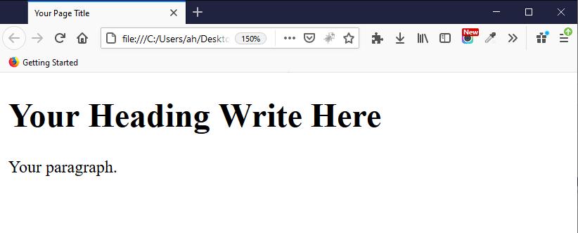 مستند HTML