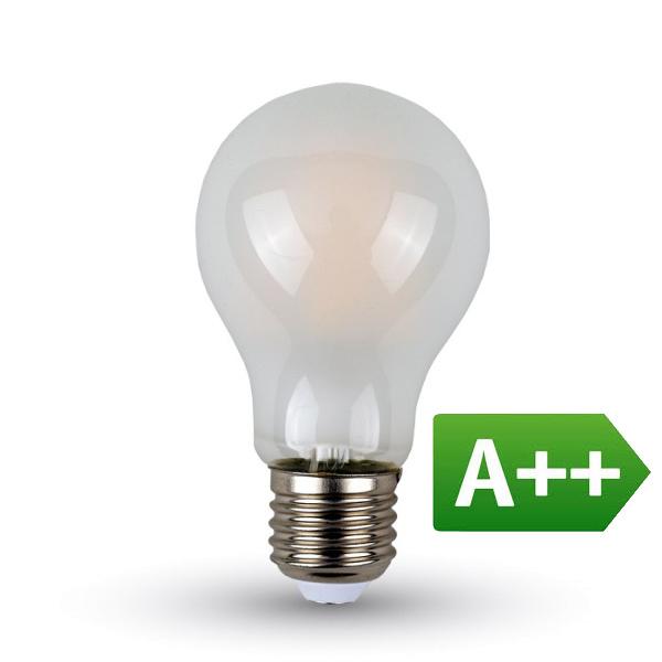 Lampadina LED E27 840lm 7W Filament A60 A++ Opaca
