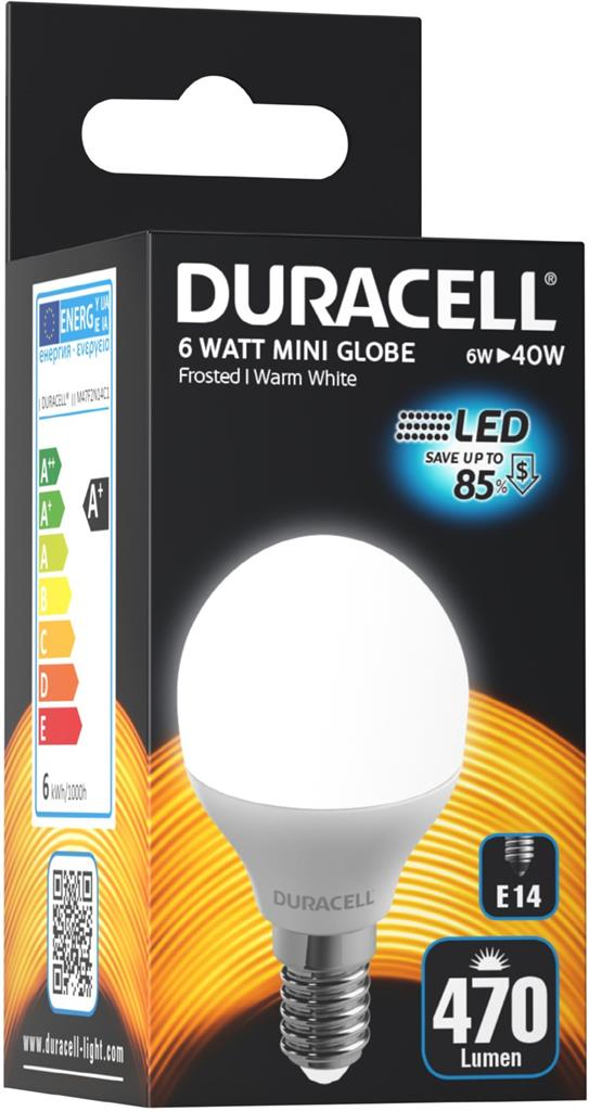 Lampadina LED E14 470lm Luce Calda Miniglobo G45 W6 (40w)