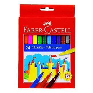 Faber Castell Pennarelli Scatola 24 pezzi