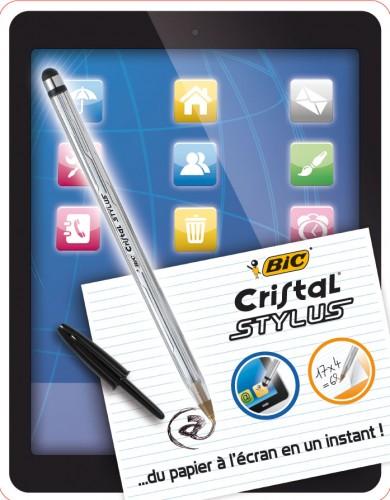 Penna Sfera Bic Cristal STYLUS blister 2 penne B / N